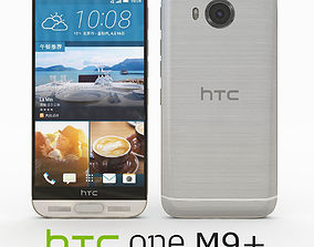 3D model HTC One M9 Plus Silver gold
