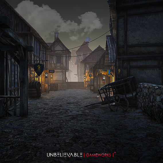 Village Scene in Unreal Engine 4