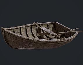 PBR Old Broken RowBoat 3D model