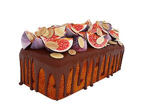 Almond fig loaf cake 3D model