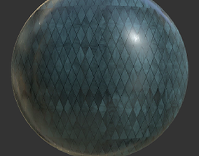 Leaded Window Material 3D asset