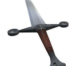 Medieval Sword - Low Poly 3D model