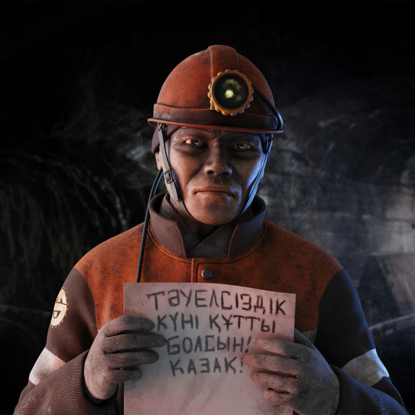 The Miner 3D model (Dedicated for miners in Kazakhstan)