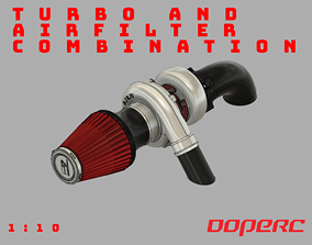 1to10 RC Turbo and Airfilter 3D printable model 1