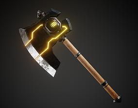 Battle Axe 3D model game-ready PBR