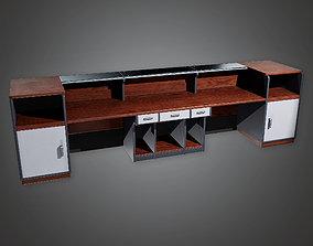 Bank Reception Desk BHE - PBR Game 3D model