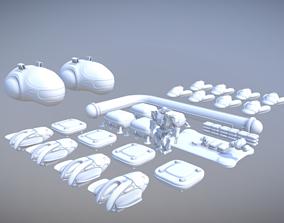 3D model Space bundle 8 in 1
