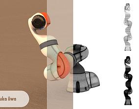 3D model rigged Kuka LBR iiwa