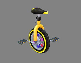 3D model Cartoon unicycle