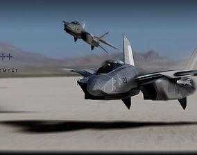 3D model F-14 stealth concept