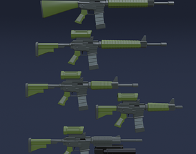 3D model Five Automatic Weapons - Canada