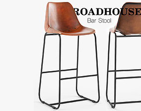 Roadhouse Bar Stool 3D model
