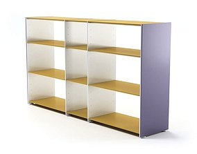 Thin Modern Shelf Unit 3D model