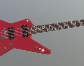 Random Star electric guitar 3D