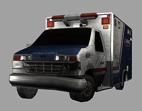 3D asset Ambulance Crashed