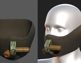 3D model Gas mask helmet scifi fantasy armor 1