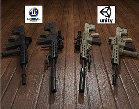 Semi-Automatic Sniper Package 3D model realtime