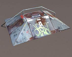 low-poly Skate Ramp Low Poly 3d Model