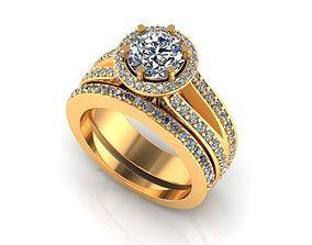 Wedding Ring R0032 3D print model
