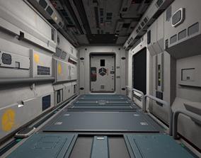 Modular Sci-Fi Corridor Full Pack Unity Asset 3D model