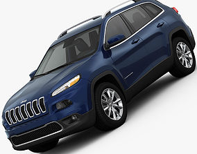 3D model Jeep Cherokee Limited 2014 detailed interior