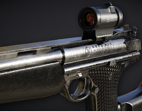 3D model Automag Pistol with Rifle Modification