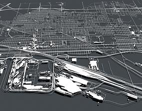 3D model Cityscape Gary Indiana USA