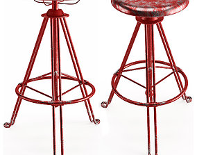 3D asset Bar Stool Lozenge