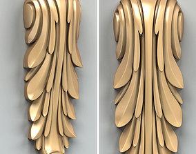 Carved decor vertical 018 3D model