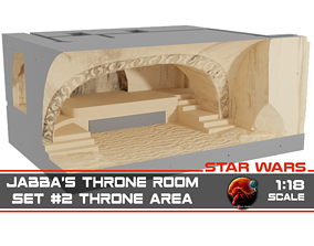 3D print model Jabbas Throne Room - Set 2 - Throne Area 2