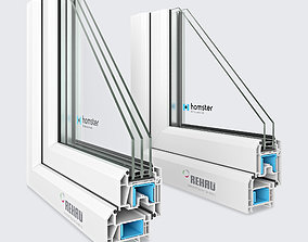 3D Window profile - Rehau Blitz New - Rehau Grazio