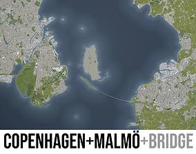 Copenhagen and Malmo - MEGAPACK 3D model