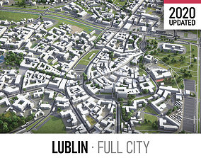 Lublin - city and surroundings 3D asset