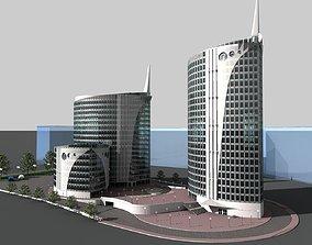 High-rise residential complex 3D