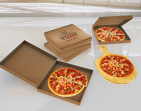 Pizza Mega Pack - Low Poly 3D model VR - VR / AR ready 4
