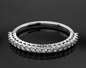 Anniversary Diamond Ring RD0202 3D print model