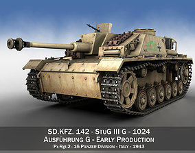 3D model StuG III - Ausf G - 1024 - Early Production