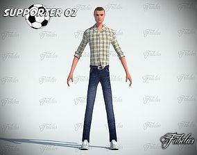 Supporter 02 3D asset