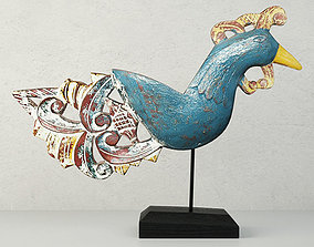 3D model Antique Peacock on Stand by Jeffan