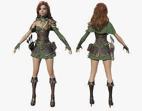Ranger Girl 3D asset