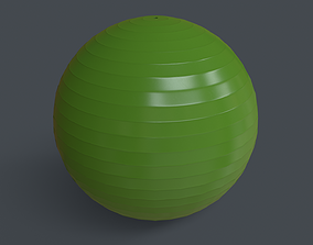 PBR Yoga Ball - Green 3D model