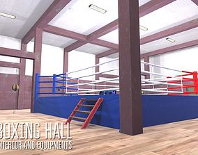 Boxing hall - interior and equipments 3D model game-ready