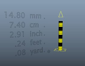 3D asset rigged Tape Measure