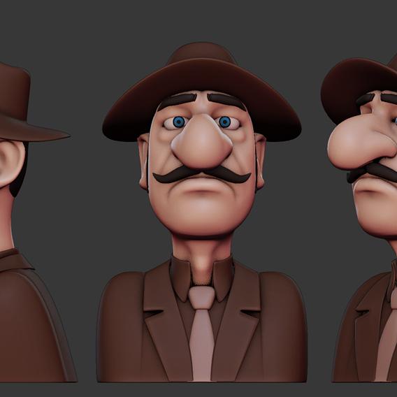 Stylized Caricature Man Print Ready 3D print