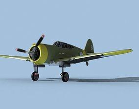 Curtiss H-75C Mohawk German Captured 3D