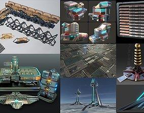 3D model Cyberpunk architectural - construction - sci fi