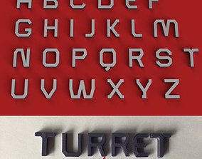 TURRET uppercase and lowercase 3D Letters STL FILE