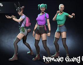 Female Gang 03 3D asset