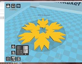 Snowflake 3D print model accessories