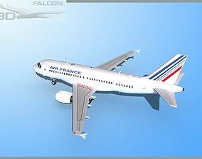 rigged Falcon3D A319 Air France